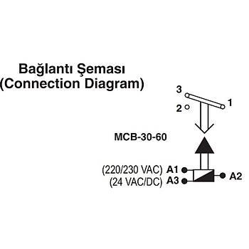 MCB-30 2sn-30sn Çekmede Gecikmeli Zaman Rölesi ENTES