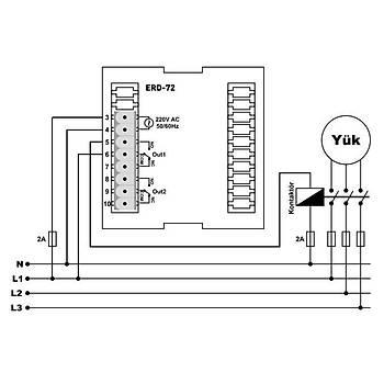 ERD-72 Fonksiyonel 72x72mm Dijital Zaman Rölesi TENSE
