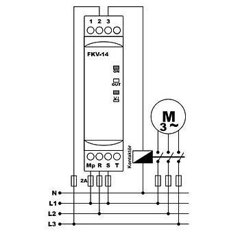 FKV-14 Nötrlü Faz Sıralı Motor (Faz) Koruma Rölesi TENSE