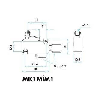 MK1MİM1 Kısa Kollu Metal Makaralı Mikro Siviç EMAS