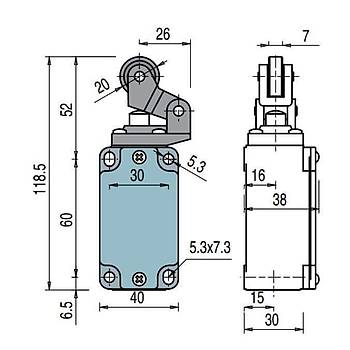 FD 502 Makaralı Limit Switch PIZZATO
