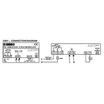 ESM-3710N PTC Girişli 230VAC Termostat (Prob Dahil) EMKO