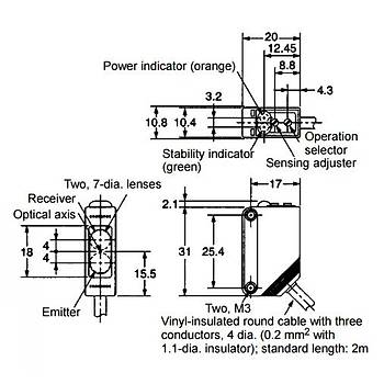 E3Z-R81 2M PNP 4m Reflektörlü Fotosel OMRON