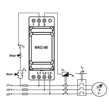 MKC-06 Nötrlü Faz Sıralı Ayarlanabilir Asimetrili Motor (Faz) Koruma Rölesi ENTES