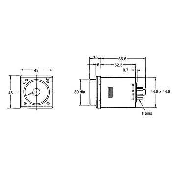 H3CR-A8 100-240VAC/100-125VDC 8 Pinli Fonksiyonel Analog Zaman Rölesi OMRON