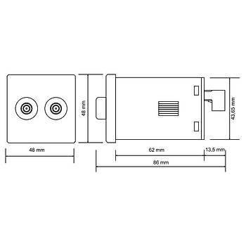 ERP-2F Panel Tipi Multifonksiyonlu Flaşör Zaman Rölesi TENSE