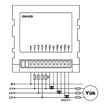 EM-60D Multimetre (CT-120, Pano Tipi) TENSE