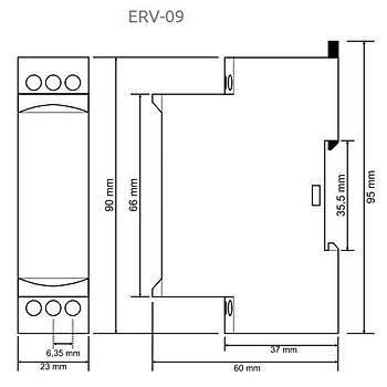 ERV-09 Multifonksiyonlu Flaşör Zaman Rölesi TENSE