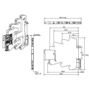 G2RV-SL700 24VDC Slim Röle + Soket (PLC Rölesi) OMRON