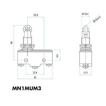 MN1MUM3 Metal Makaralı (Eksene Paralel) Pimli Asal Siviç EMAS