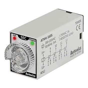 ATM4-560S 6-60sn 220VAC Zaman Rölesi AUTONICS