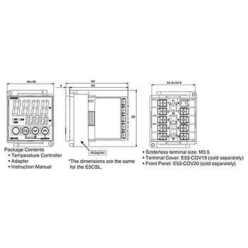 E5CWL-R1TC Dijital Isı Kontrol Cihazı (Termostat) OMRON