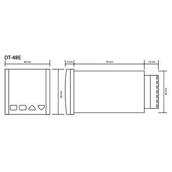 DT-48E J Tipi (Fe-Const) 48x48mm Dijital Isı Kontrol Cihazı TENSE