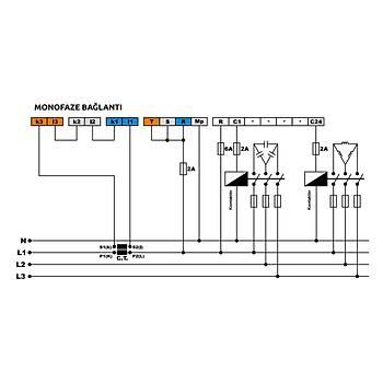 RGM-12E 12 Kademe Monofaze Reaktif Güç Kontrol Rölesi TENSE