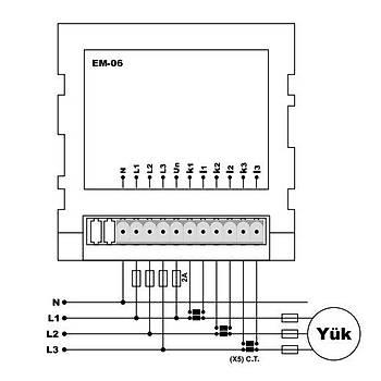 EM-06 Multimetre (X/5A, Pano Tipi) TENSE