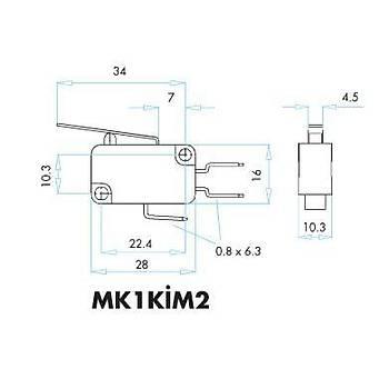 MK1KİM2 Metal Palet Kollu Mikro Siviç EMAS