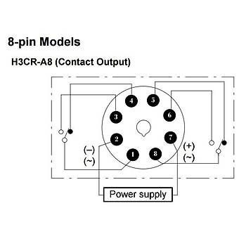 H3CR-A8 24-48VAC/12-48VDC 8 Pinli Fonksiyonel Analog Zaman Rölesi OMRON
