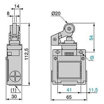 XCKM121 Plastik Makaralı Kollu Limit Siviç SCHNEIDER