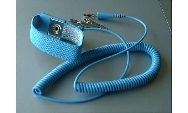 Kablolu Antistatik Topraklama Bilekliði Mavi-Mavi