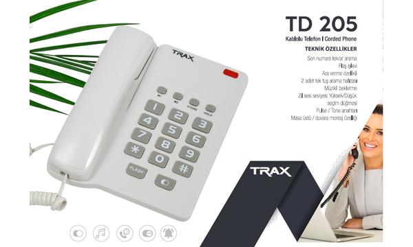 TRAX TD 205 MASA TELEFONU