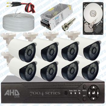 Elitcam Ahd Süper 8 Kameralý Set 1080p Full Hd