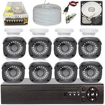 Elitcam 5.0 Megapixel Lensli ( 8 ) Kameralý Full Paket Güvenlik Sistemi Hdd Dahil