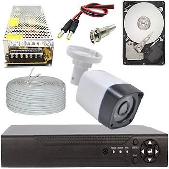 Elitcam 5.0 Megapixel Lensli ( 1 ) Kameralý Full Paket Güvenlik Sistemi Hdd Dahil