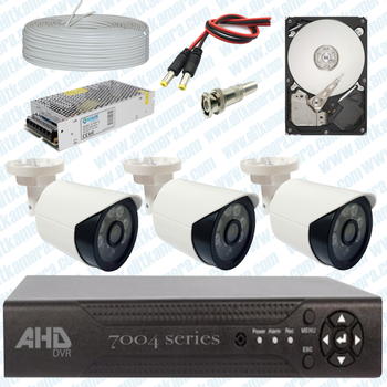 Elitcam Ahd Süper 3 Kameralý Set 1080p Full Hd
