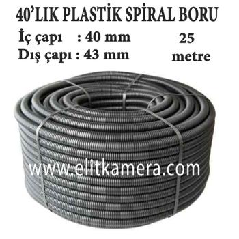 40'Lýk Plastik Spiral Boru ( 25 Metre )