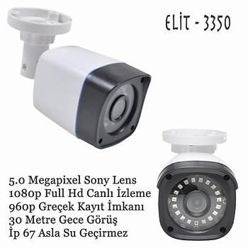 Elit 3350 ahd kamera 5.0 m.pixel Sony Lens 1080p full hd