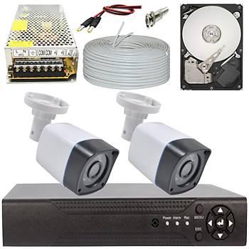 Elitcam 5.0 Megapixel Lensli ( 2 ) Kameralý Full Paket Güvenlik Sistemi Hdd Dahil