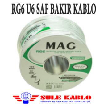 RG6 U6 Saf Bakýr Þule Kablo 64 Tel ( 500 Metre )