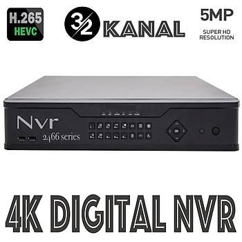 Elitcam Hd 2432 32 Kanal 5.0 M.Pixel H265  Nvr ( 2 Harddiskli )