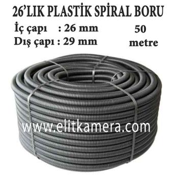 26'Lýk Plastik Spiral Boru ( 50 Metre )