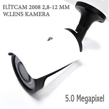 Elitcam 5008  5.0 Megapixel 2.8 - 12 MM Ahd Kamera W.Lens