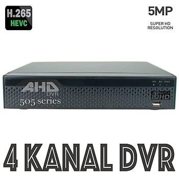 Elitcam 505 -Xmeye- 4 Kanal 5.0 M.Pixel Ahd Kayýt Cihazý