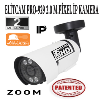 Elitcam Pro-929 2.0 Megapixel Ýp Kamera ( 2.8-12 MM )