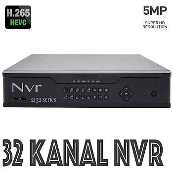 Elit Hd-2132 32 Kanal Nvr 5.0 m.pixel H265 2x8 destekler
