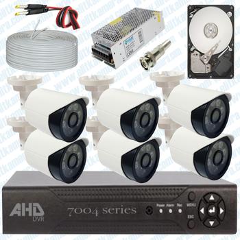 Elitcam 5.0 Megapixel Lensli ( 6 ) Kameralý Full Paket Güvenlik Sistemi Hdd Dahil