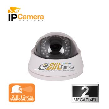 Elitcam Pro 3222 2.0 Mpixel 2.8-12 MM W.Lens Ýp Dome Kamera