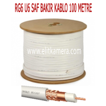 Rg6 U6 Saf Bakýr Kablo ( 500 Metre )