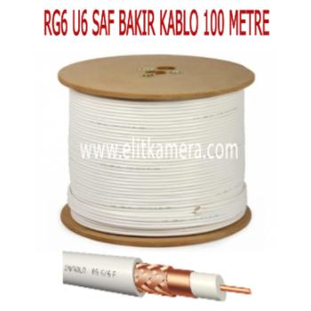 RG6 U6 Saf Bakýr Kablo ( 100 MTR. )