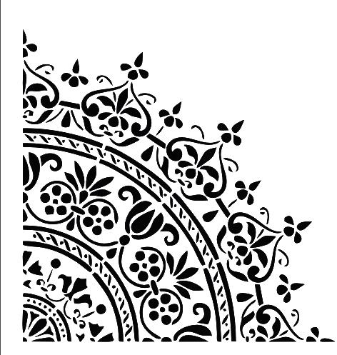 En Ucuz Rich Wall 018 Duvar Desen Stencıl Kolay Boyama şablonu