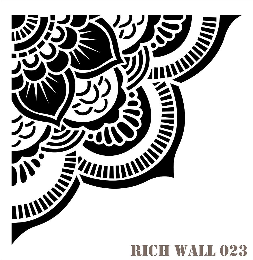 En Ucuz Rich Wall 023 Duvar Desen Stencıl Kolay Boyama şablonu