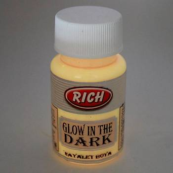 Rich 50 ML  3006 Turuncu Karanlýkta Parlayan (Glow In The Dark ) Hayalet Boya
