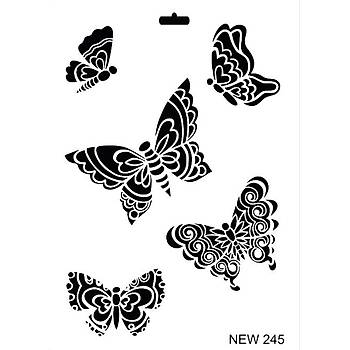 Rich New 245  Stencil (Kolay Boyama Þablonu )