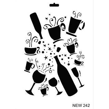 Rich New 242  Stencil (Kolay Boyama Þablonu )