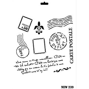 Rich New 239  Stencil (Kolay Boyama Þablonu )