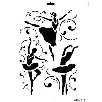 Rich New 312  Stencil (Kolay Boyama Þablonu )