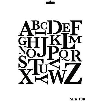 Rich New 198 Stencil (Kolay Boyama Þablonu )